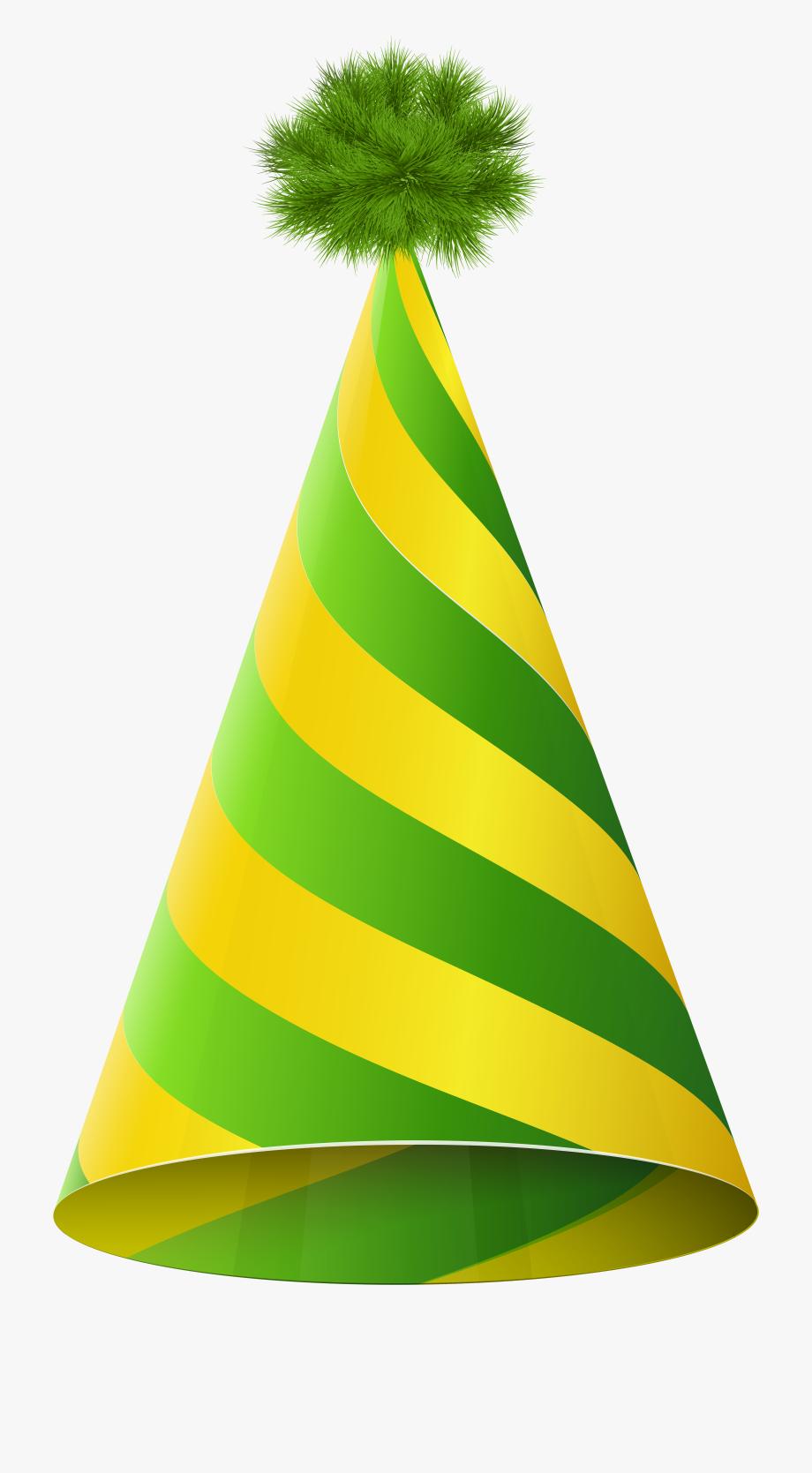 Party Hat Green Yellow Transparent Png Clip Art Imageu200b.