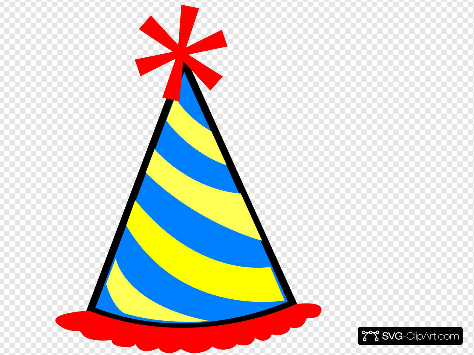 Party Hat Red Blue Yellow Clip art, Icon and SVG.