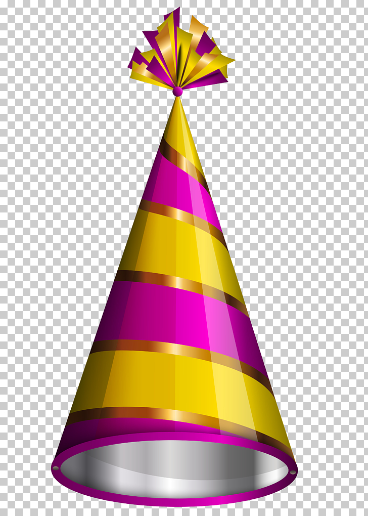 Party hat Birthday , Birthday Party Hat , yellow and pink.