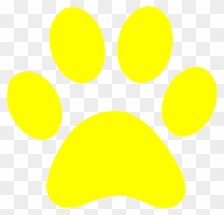 Black And Yellow Paw Print Clipart (#395835).