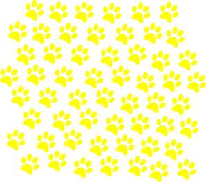 Yellow Paw Prints Clip Art at Clker.com.