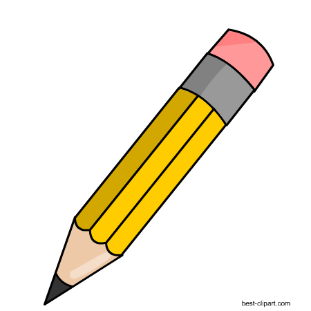 Yellow pencil clipart 4 » Clipart Station.