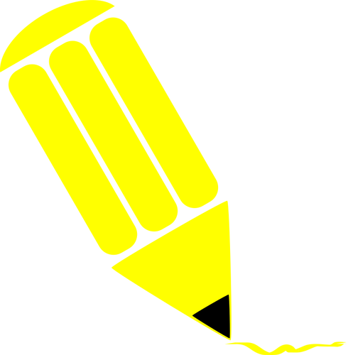 Yellow pencil clip art.