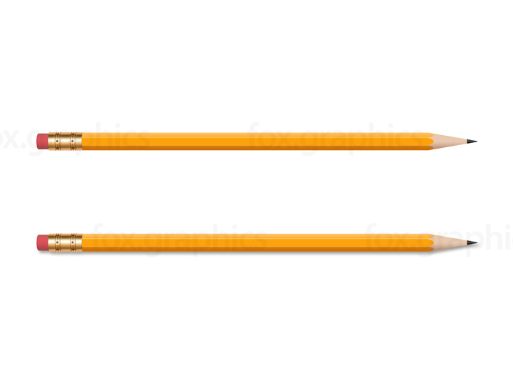 Wooden yellow pencil, PNG.