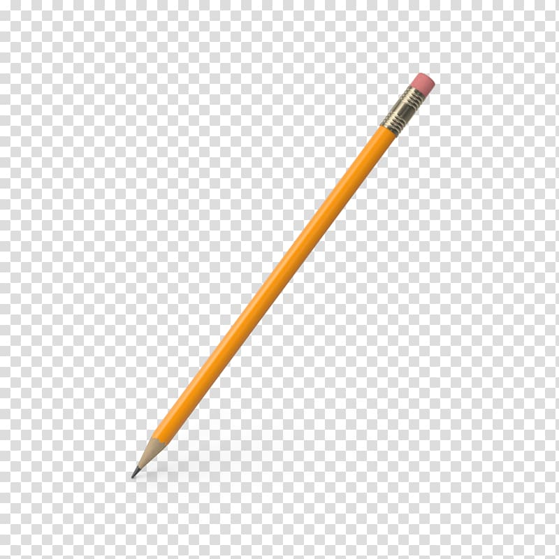 Pencil Material Yellow, Pencil with eraser transparent background.