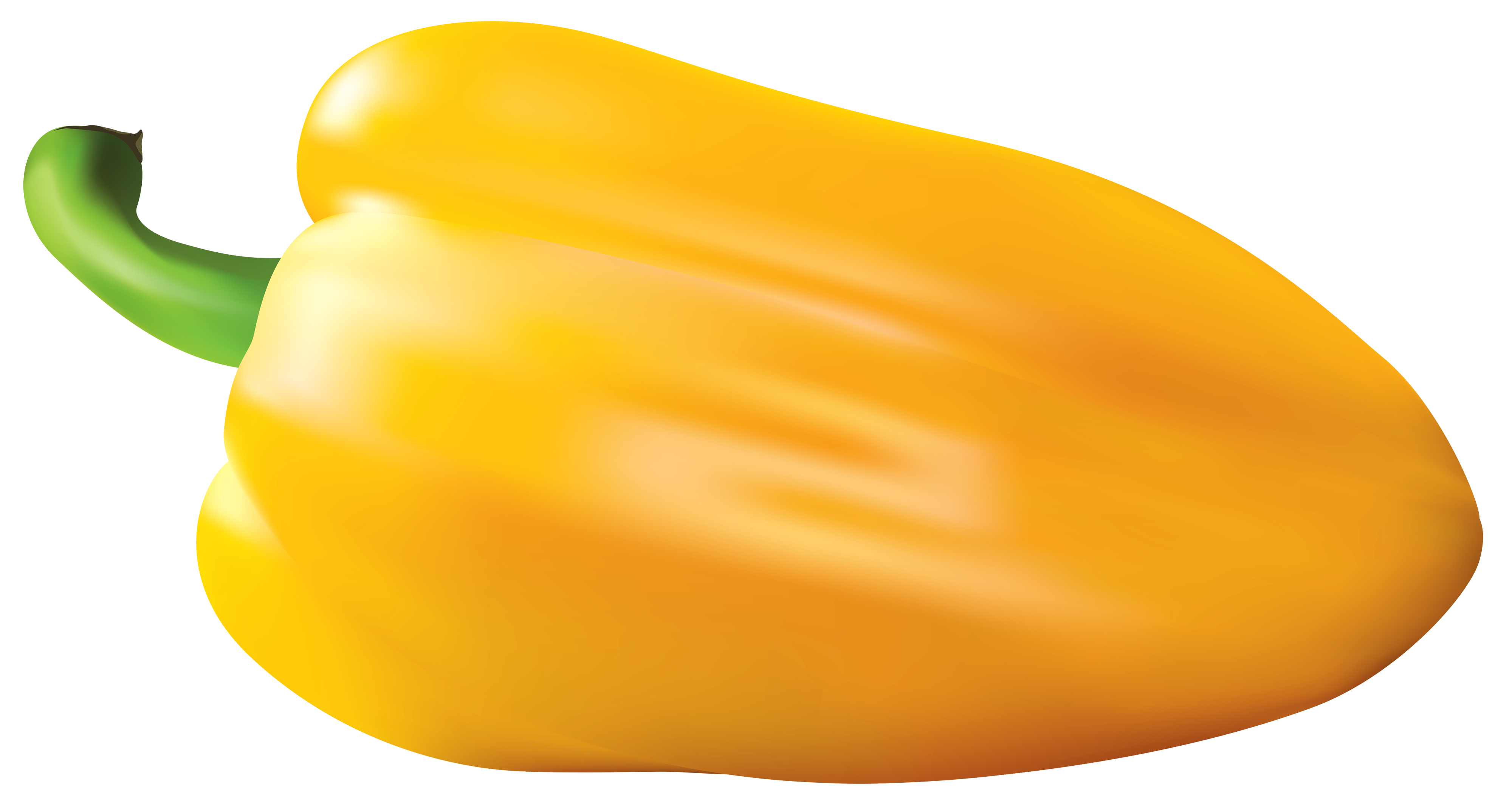 Yellow Pepper PNG Vector Clipart Image.