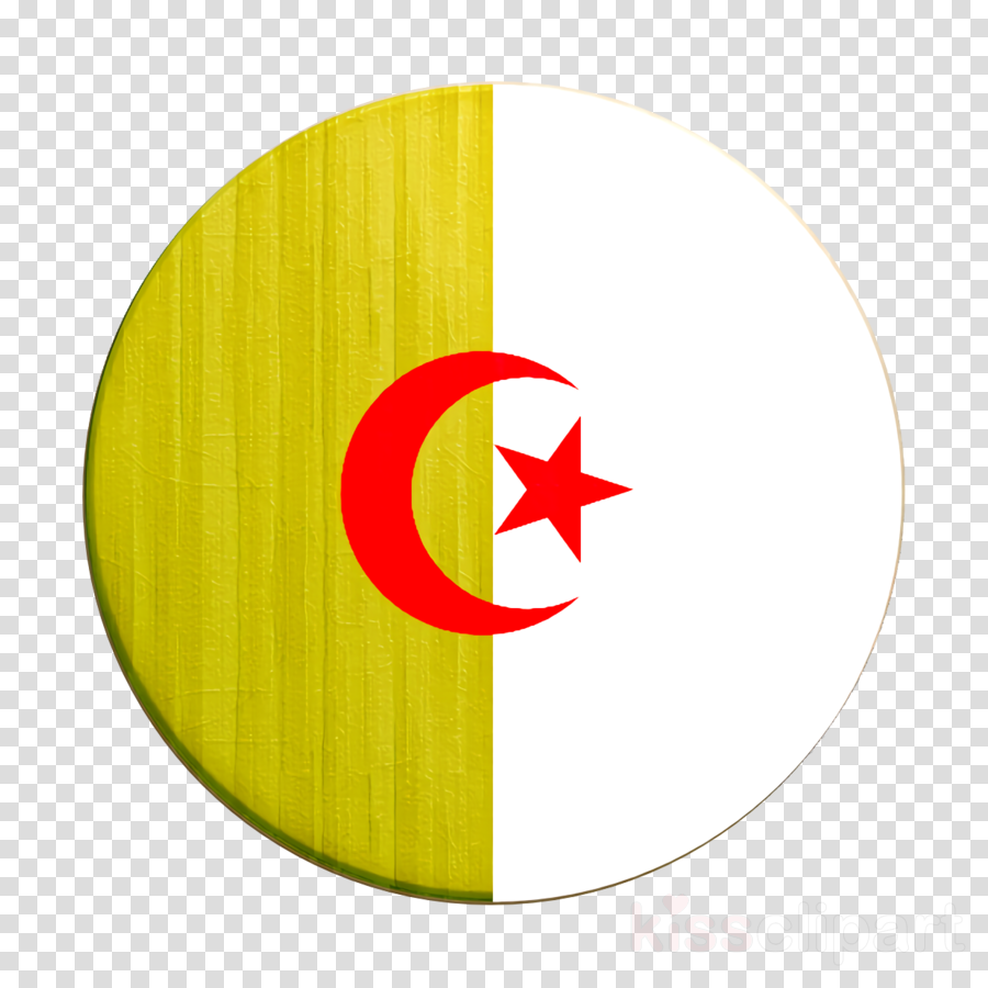 Countrys Flags icon Algeria icon clipart.