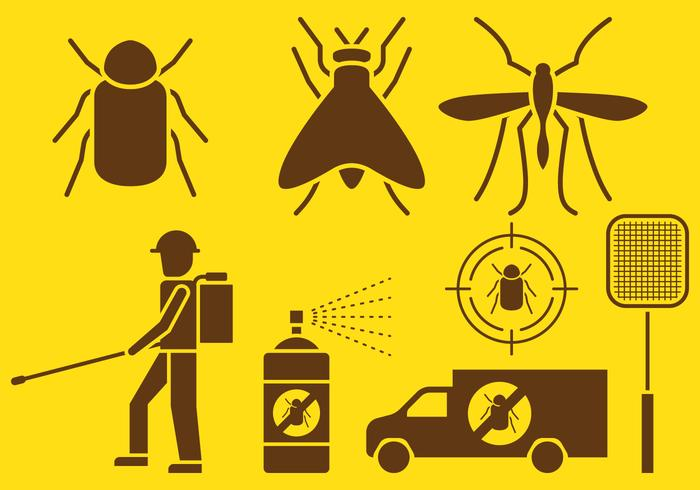 Pest Control Icons.