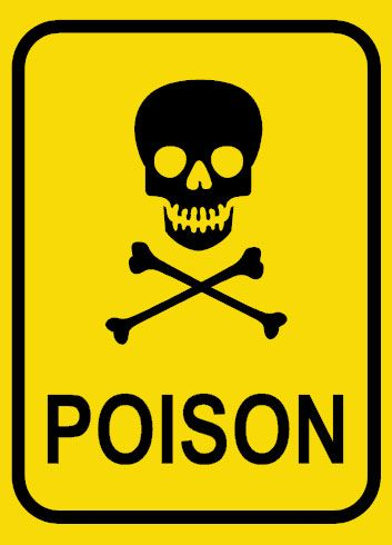 this means poison clearly. even if you could not read it you.