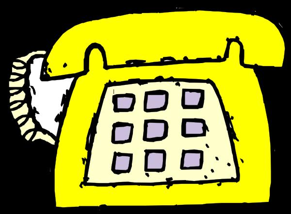 Yellow Phone 01 Clipart, Vector Clip Art Online, Royalty.