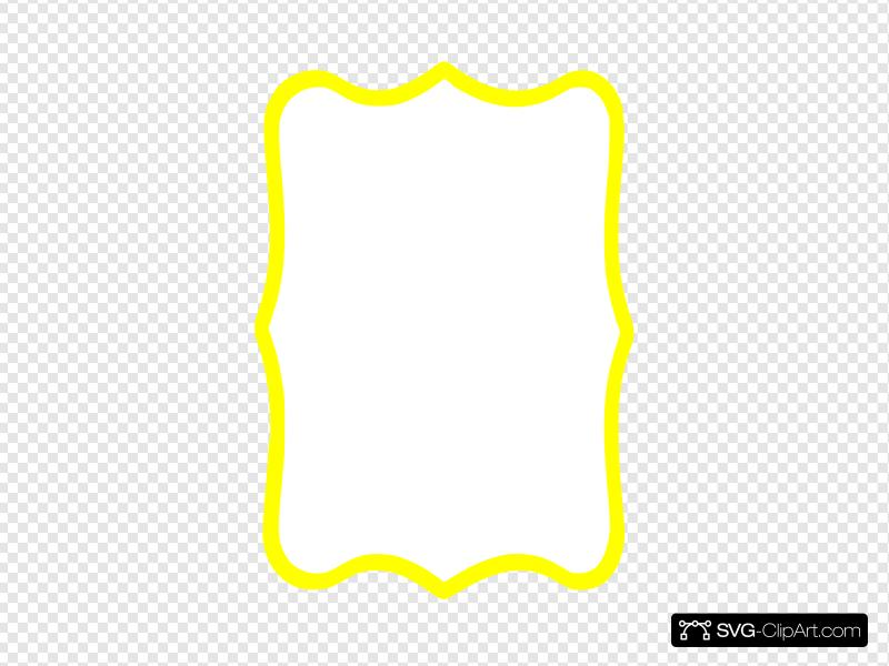 Yellow Frame Clip art, Icon and SVG.