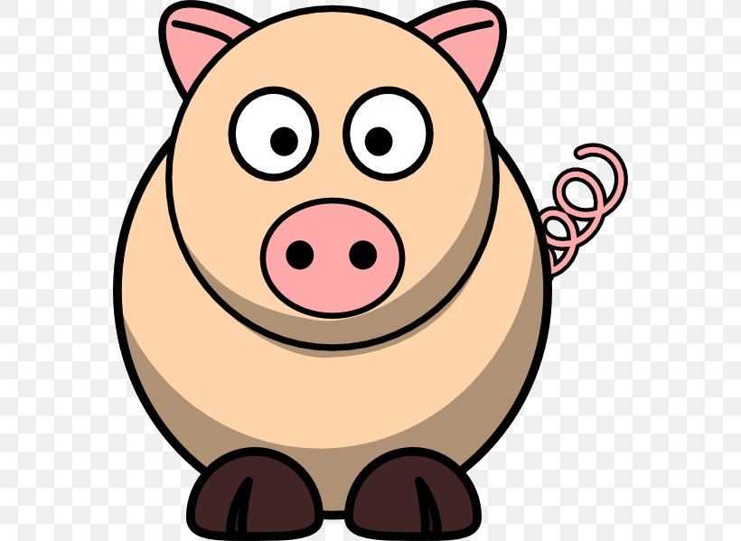 Domestic Pig Cartoon Clip Art, PNG, 570x599px, Pig, Animated.