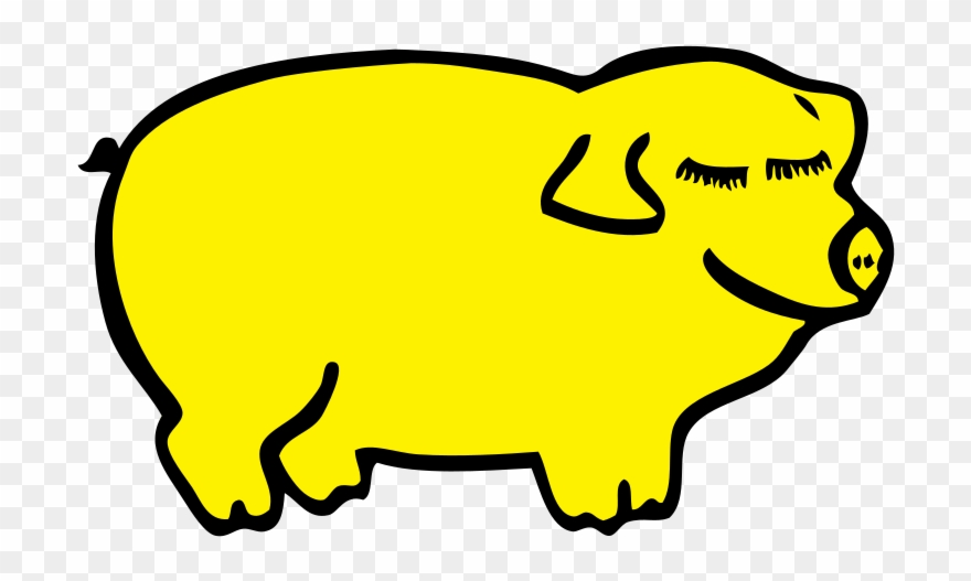 Yellow Pig Day Clipart (#1112253).