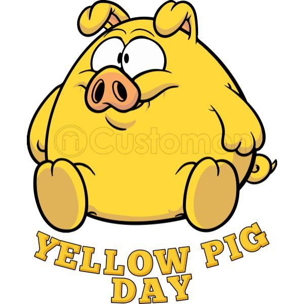 Yellow Pig Day Funny Coffee Mug.