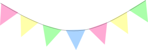 Green Blue Pink Yellow Bunting Clip Art at Clker.com.