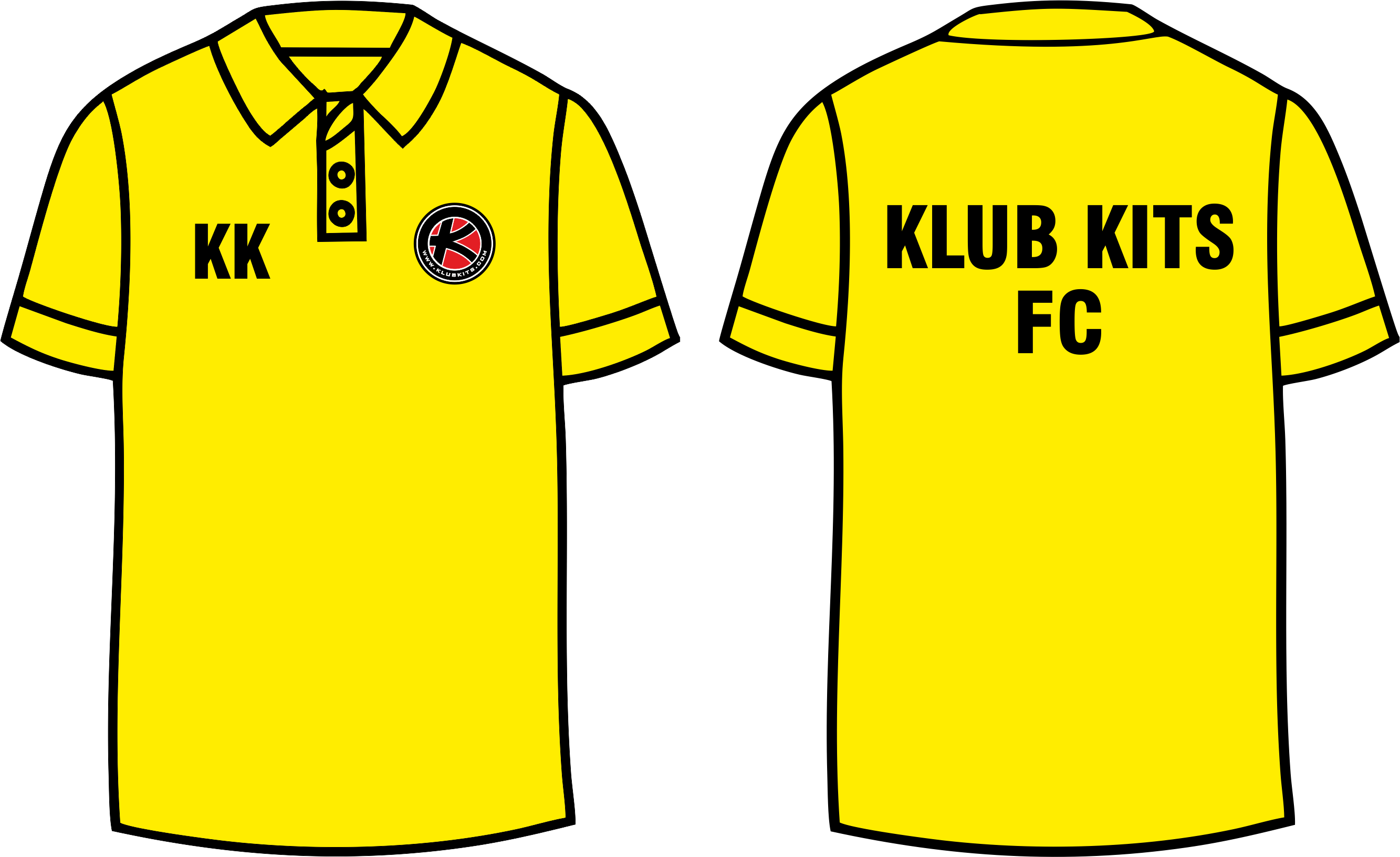 Trends For Polo Shirt Design Template Yellow.