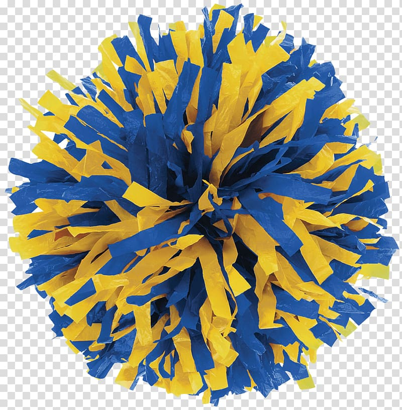 Yellow and blue pompom art, Cheerleading Uniforms Pom.