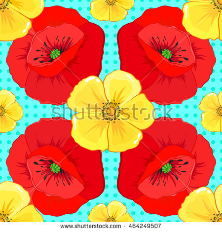 Yellow Poppy Stock Images, Royalty.