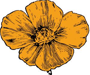California Poppy Clip Art at Clker.com.