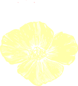 Pale Yellow Poppy Clip Art at Clker.com.