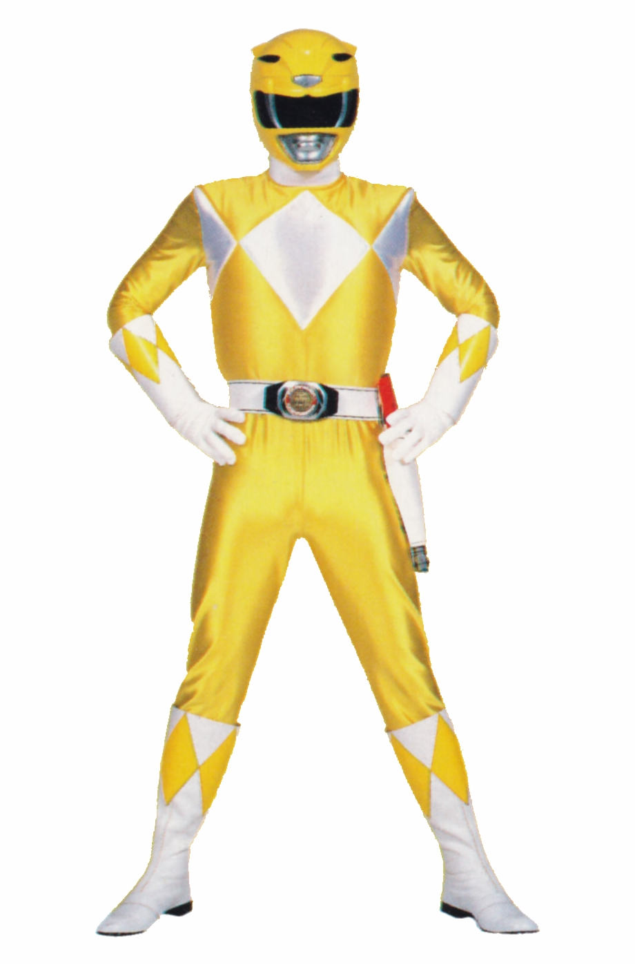 Power Rangers Transparent Background Yellow Ranger Mighty.