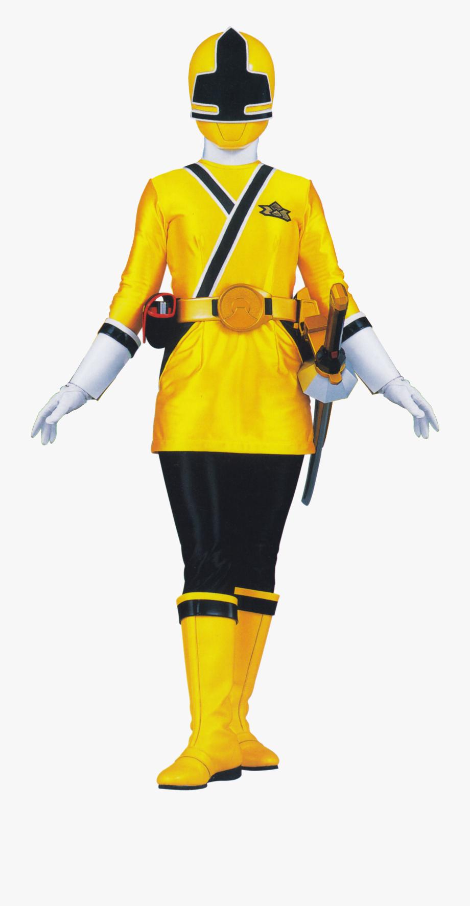 Power Ranger Samurai Yellow , Transparent Cartoon, Free.