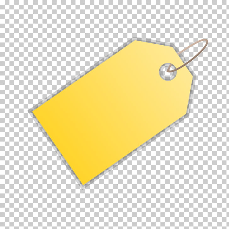 Paper Price Tag Art , Paper yellow PNG clipart.