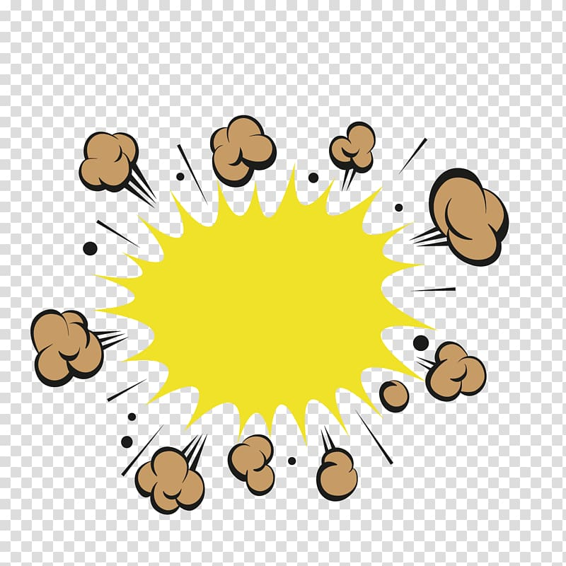 Explosion illustration, Label , yellow shock price tag.