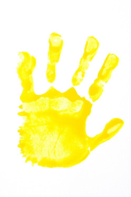 Handprint clipart yellow, Handprint yellow Transparent FREE.