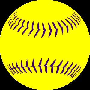 Yellow Purple Softball3 Clip Art at Clker.com.