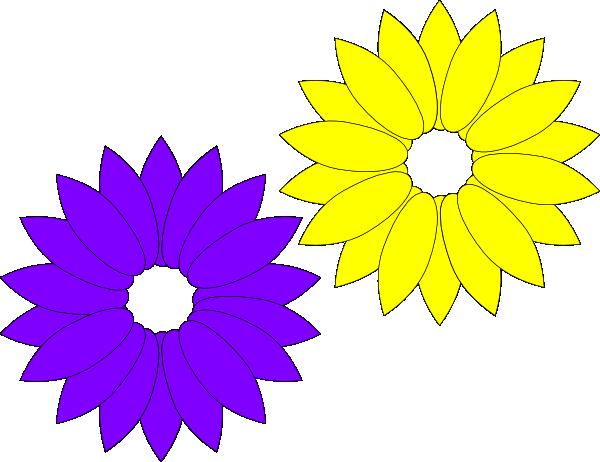Purple Yellow Flowers Clip Art at Clker.com.