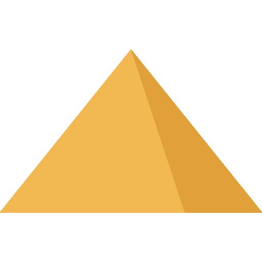 Triangle Yellow Pyramid Pattern.