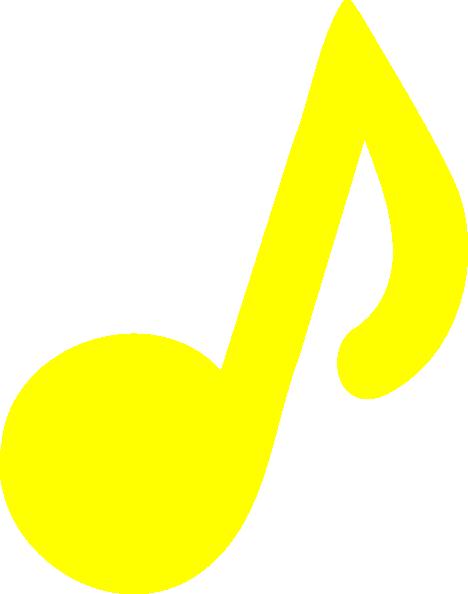 Yellow Music Note Clip Art at Clker.com.