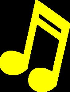 Yellow Music Note Man Kook Clip Art at Clker.com.