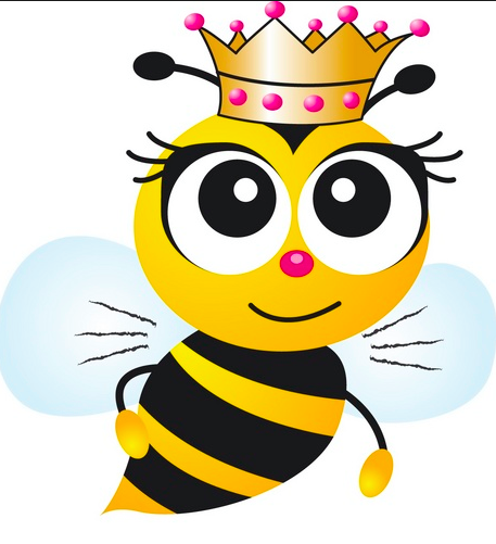 Cartoon Bee clipart.