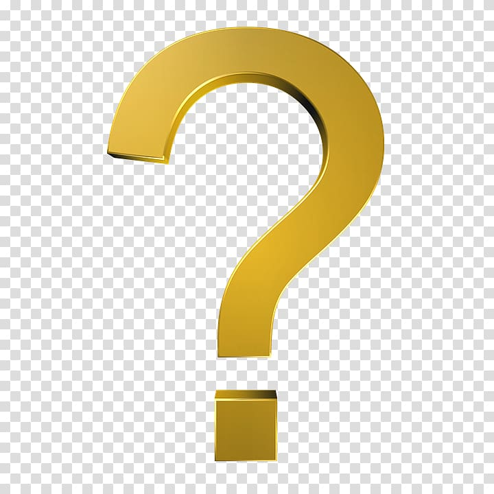 Brand Yellow Angle, Question mark transparent background PNG.