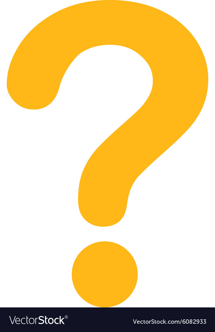 Question flat yellow color icon.