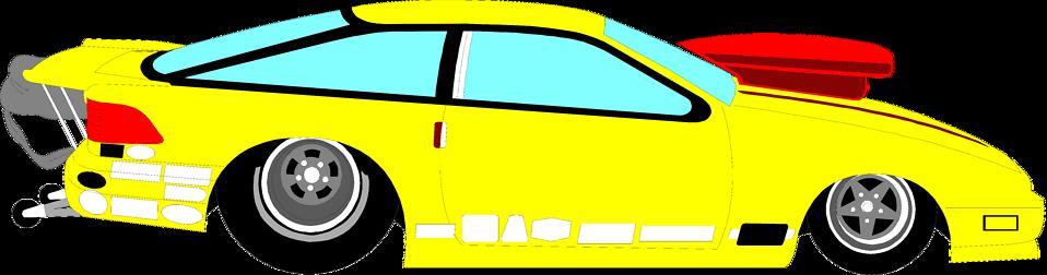 Yellow Race Car Clipart.