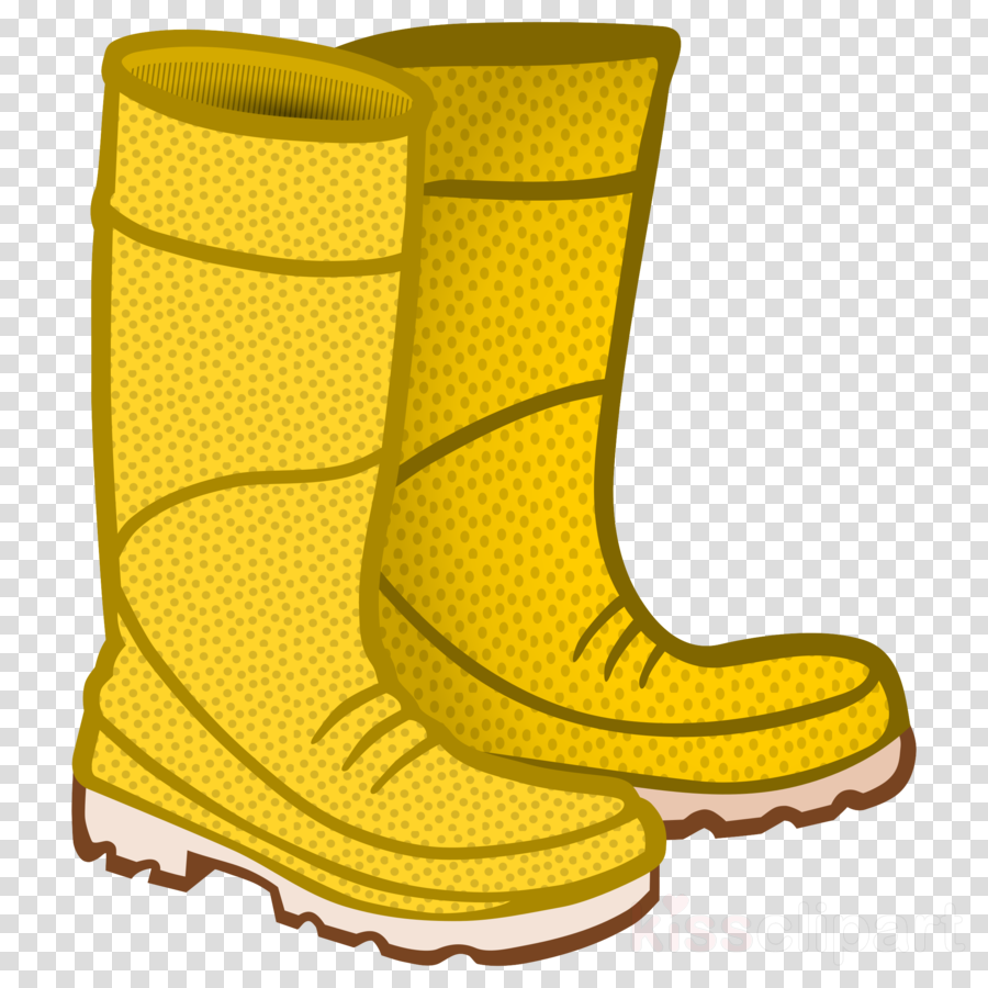 footwear boot yellow shoe rain boot clipart.