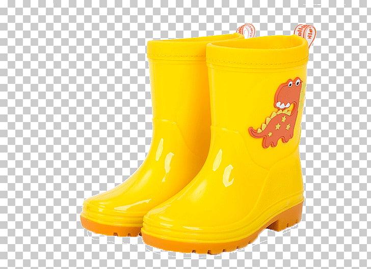 Yellow Wellington boot Shoe Child, Children\'s rain boots.