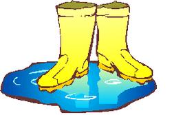 Yellow Rain Boots Clip Art.