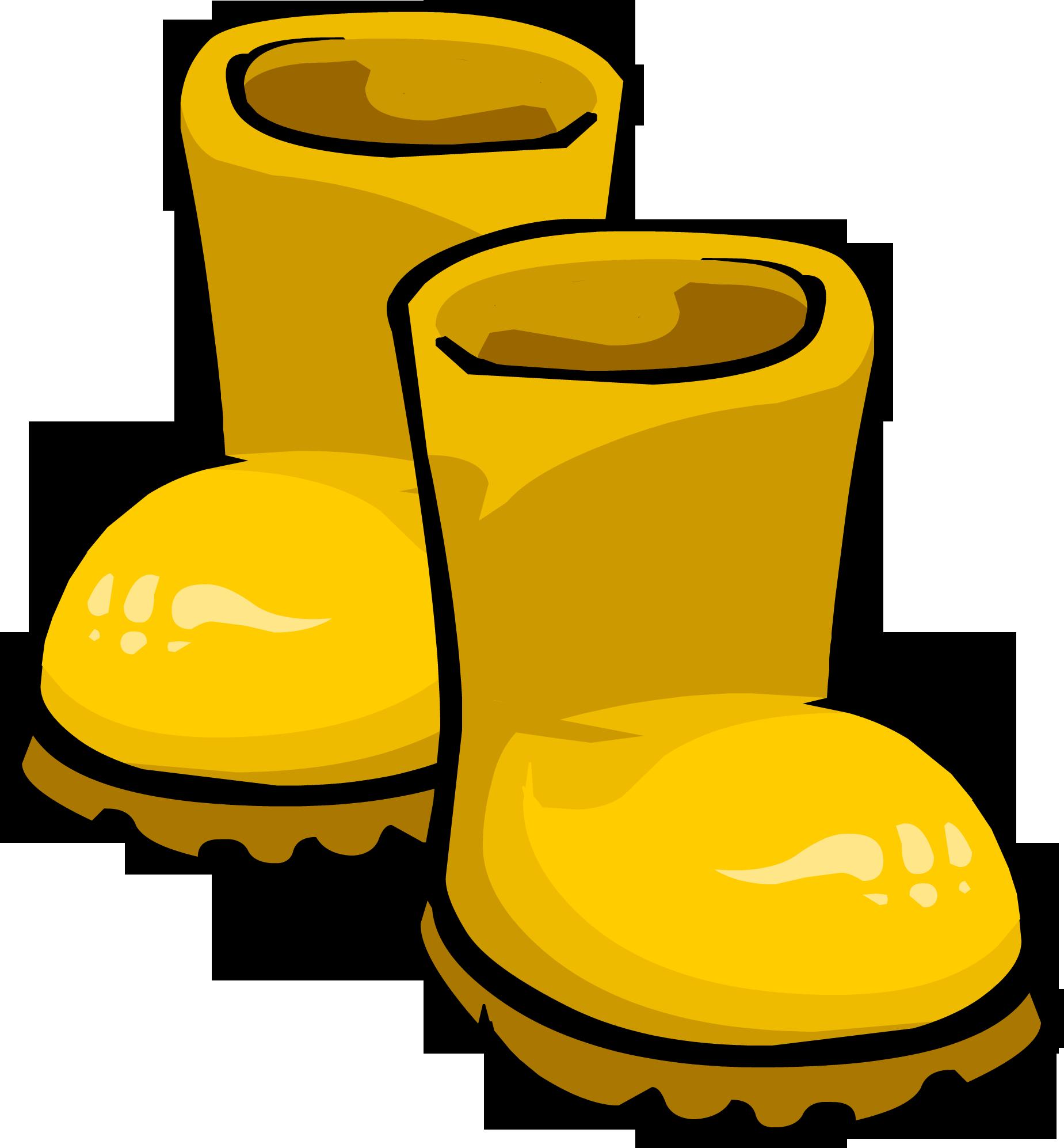 Yellow Rain Boots Clipart.