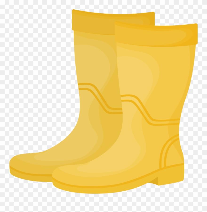 Yellow Wellington Boot Clipart (#914633).