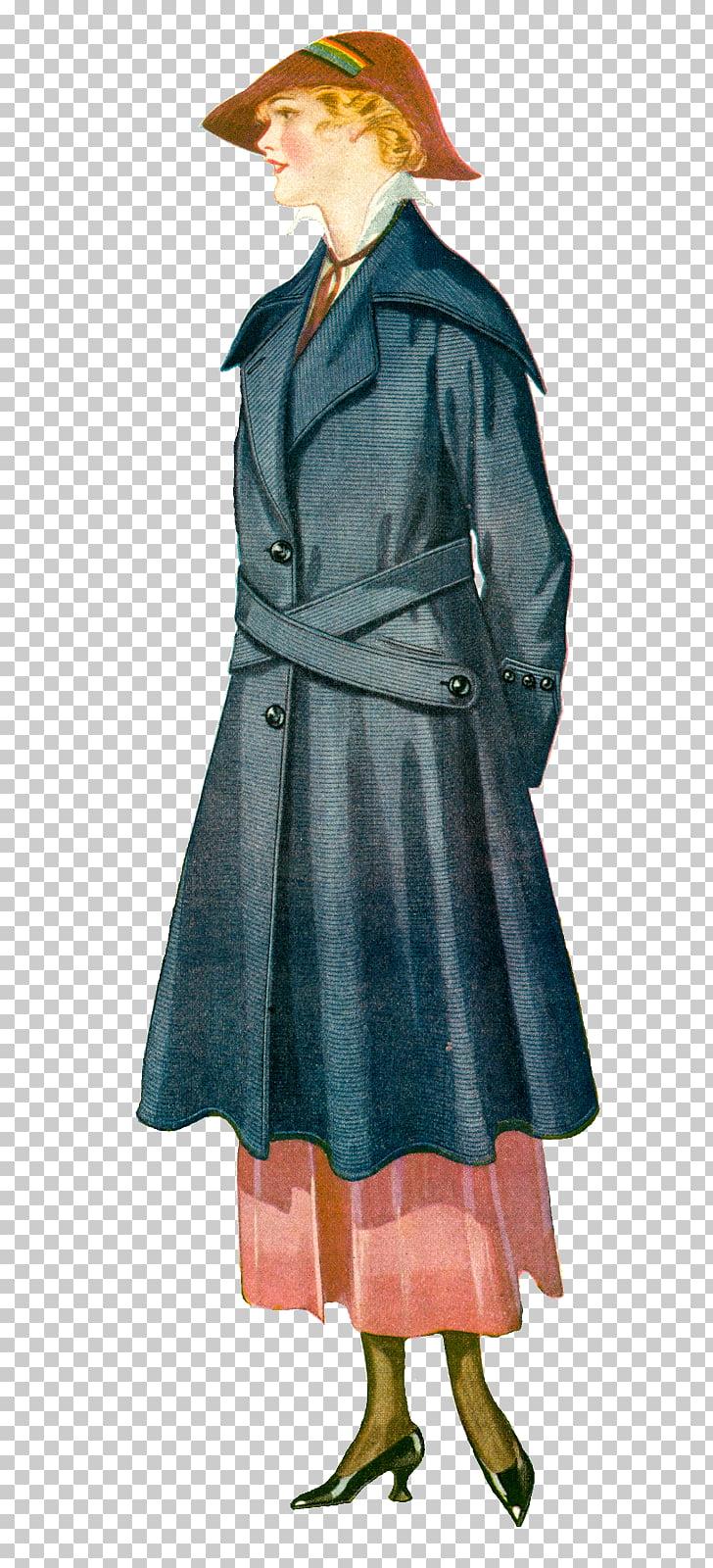 Fashion Vintage clothing , Women coat PNG clipart.