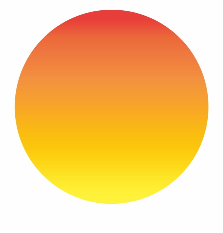 Sunrise Clipart Summer Birthday Orange And Red Circle.