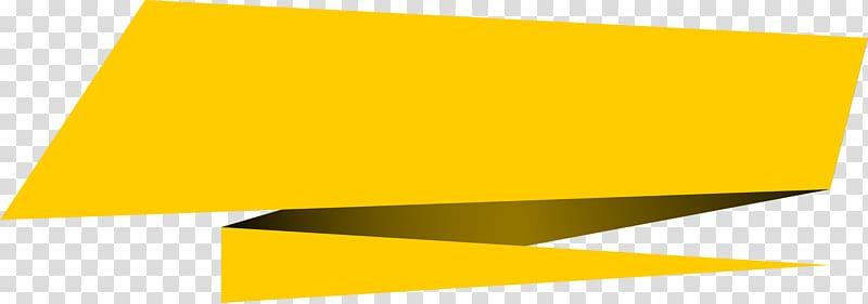 Yellow ribbon , Encapsulated PostScript Banner, transparent.