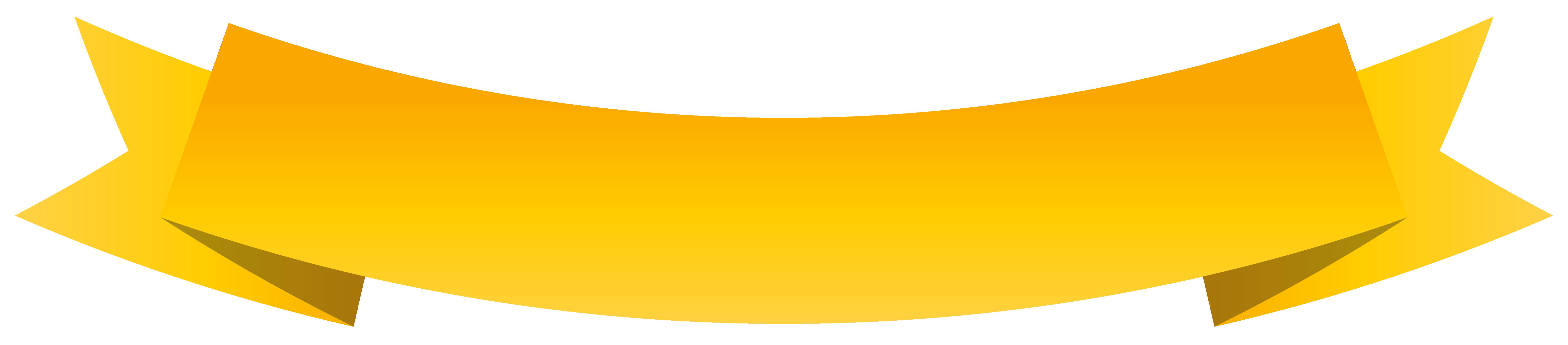 Banner Yellow ribbon Clip art.