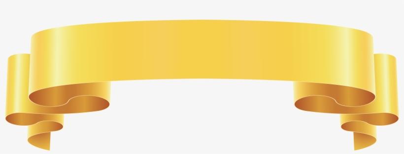 Yellow Banner Ribbon Png Clip Art Image.
