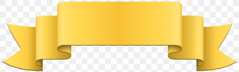 Banner Yellow Ribbon Clip Art, PNG, 8000x2410px, Banner.