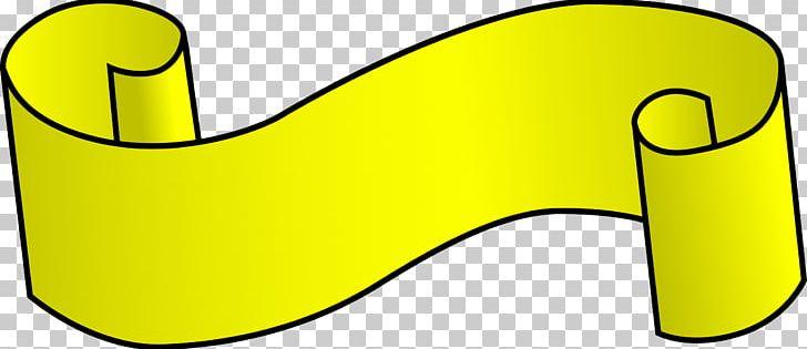 Yellow Ribbon PNG, Clipart, Area, Awareness Ribbon, Banner.